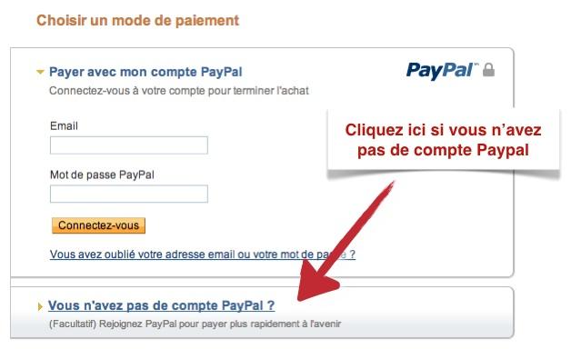 Payer par carte bancaire sans compte Paypal