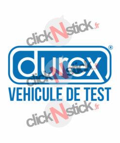 stickers Durex véhicule de test