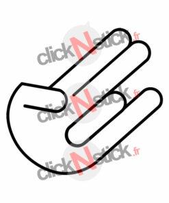 stickers shocker hand main jdm