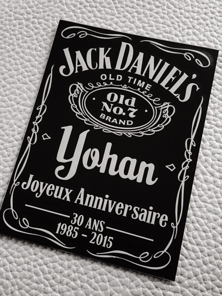 Souvent Personnalisation de bouteille de Jack Daniel's – clickNstick MZ72