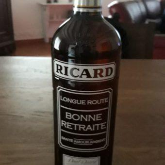 Etiquette bouteille ricard personnalisée cadeau retraite