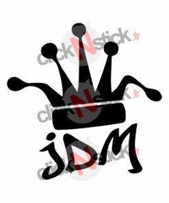 stickers JDM King roi couronne