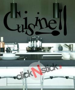 sticker cuisine décoration avec couverts