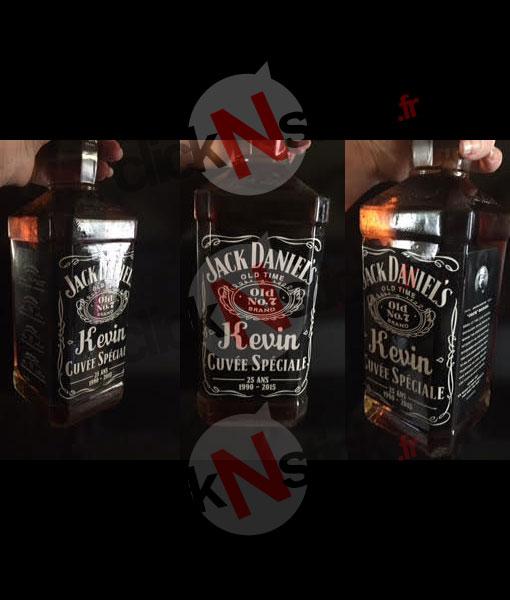 étiquette whisky jack daniels personnalisée