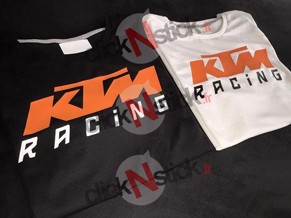 Ktm racing clicknstick - Papier flocage tee shirt ...