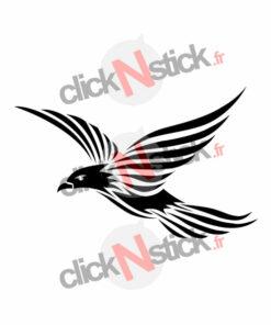 sticker oiseau tribal