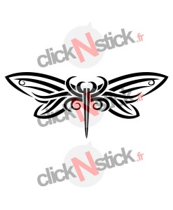 stickers papillon butterfly tribal