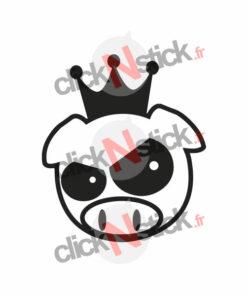 sticker king pig jdm roi cochon