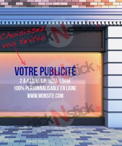 votre publicité vitrine personnalisée en ligne