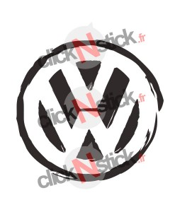 stickers logo vw destructuré