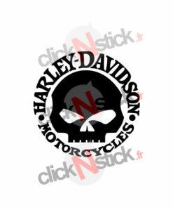 Harley Davidson tête de mort stickers