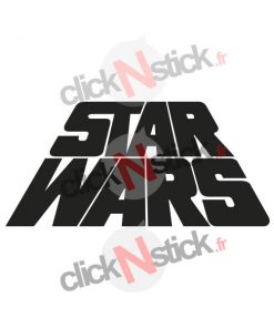Star Wars logo old school stickers