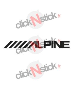 alpine car audio stickers