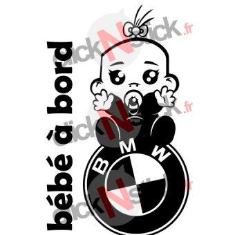 bébé à bord bmw fille stickers