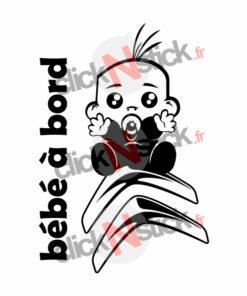 bébé à bord Citroën garçon stickers