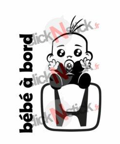 bébé à bord honda garçon stickers