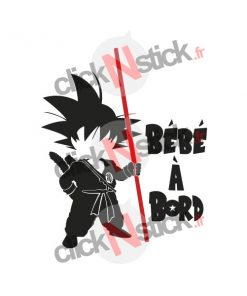 Bébé à bord sangoku dragon ball sticker