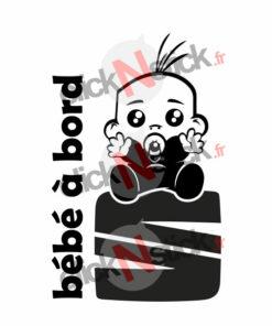 bébé à bord seat garçon stickers