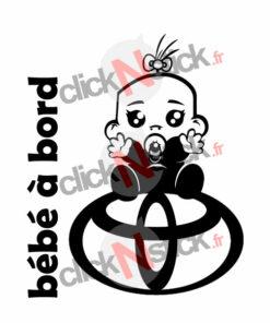 bébé à bord honda fille stickers