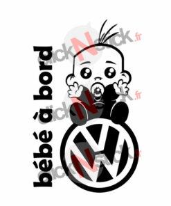 bébé à bord volkswagen vw garçon stickers