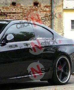 sticker bmw motorsport M vitre arrière