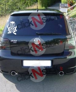 Taz cartoon Volkswagen VW stickers
