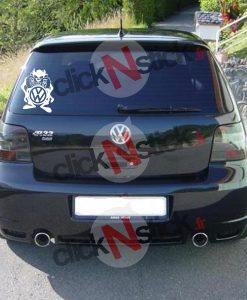 Taz cartoon Volkswagen VW stickers