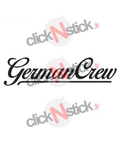 German Crew sticker