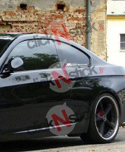 BMW motorsport 4 couleurs stickers