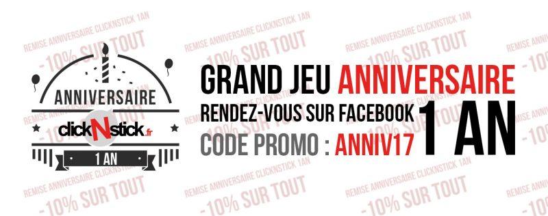 Promo stickers anniversaire jeu facebook