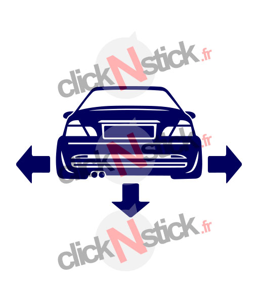 BMW E46 down n out stickers