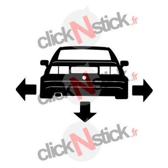 VW Corrado down n out sticker