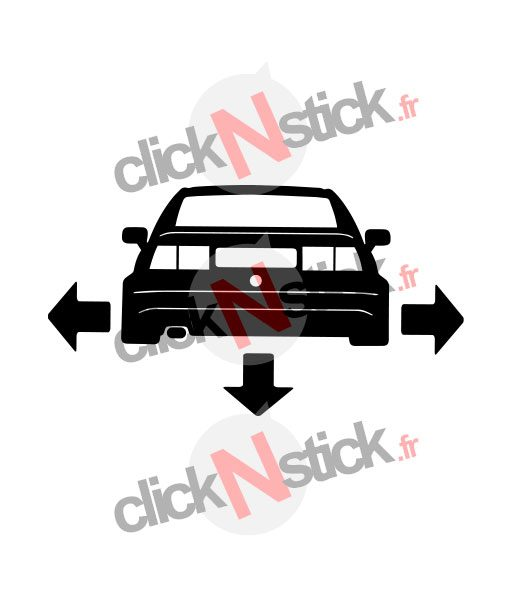 VW Corrado down n out sticker