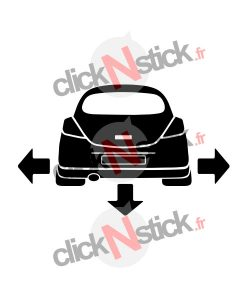 Opel Corsa D down n out sticker