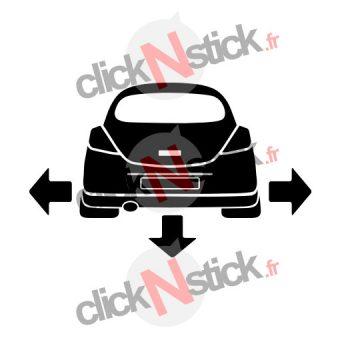 Opel Corsa D down n out sticker