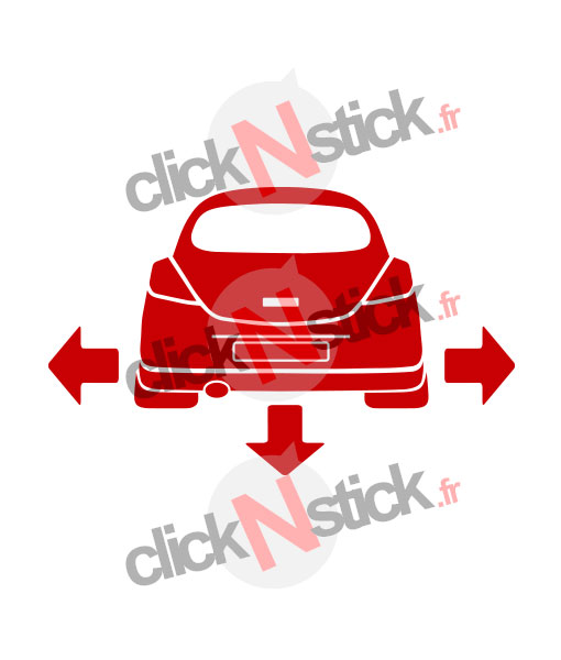 Opel Corsa D down n out stickers