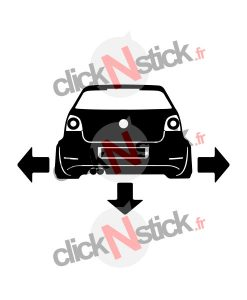VW polo 9N3 down n out sticker