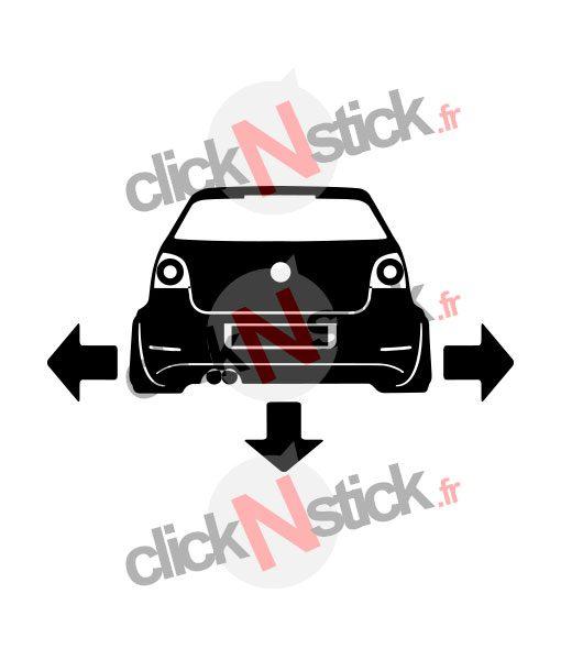 VW polo 9N3 down n out sticker