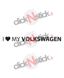 i love my volkswagen sticker