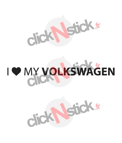 i love my volkswagen sticker