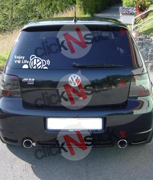 enjoy vw volkswagen life stickers