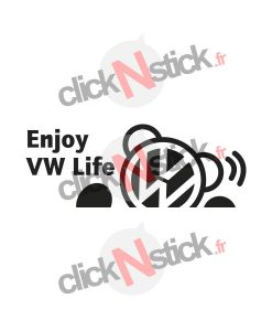 enjoy vw volkswagen life sticker