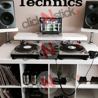 Technics platine dj stickers
