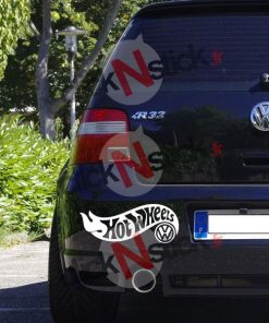 Hot Wheels VW sticker humour