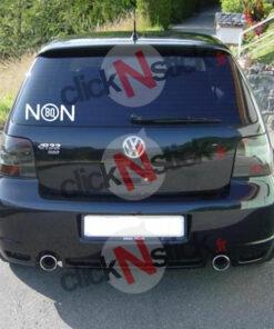 stickers non à la limitation de vitesse à 80 km/h