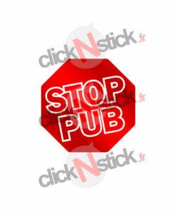 Sticker stop pub contre la publicité