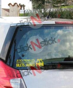 stickers autocollant je soutiens les gilets jaunes