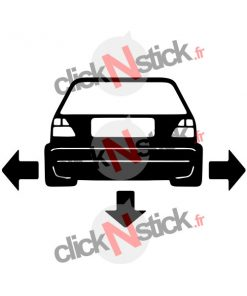 stickers Golf mk2 MKII low tuning