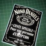 étiquette personnalisée cuvée spéciale whisky jack daniel's