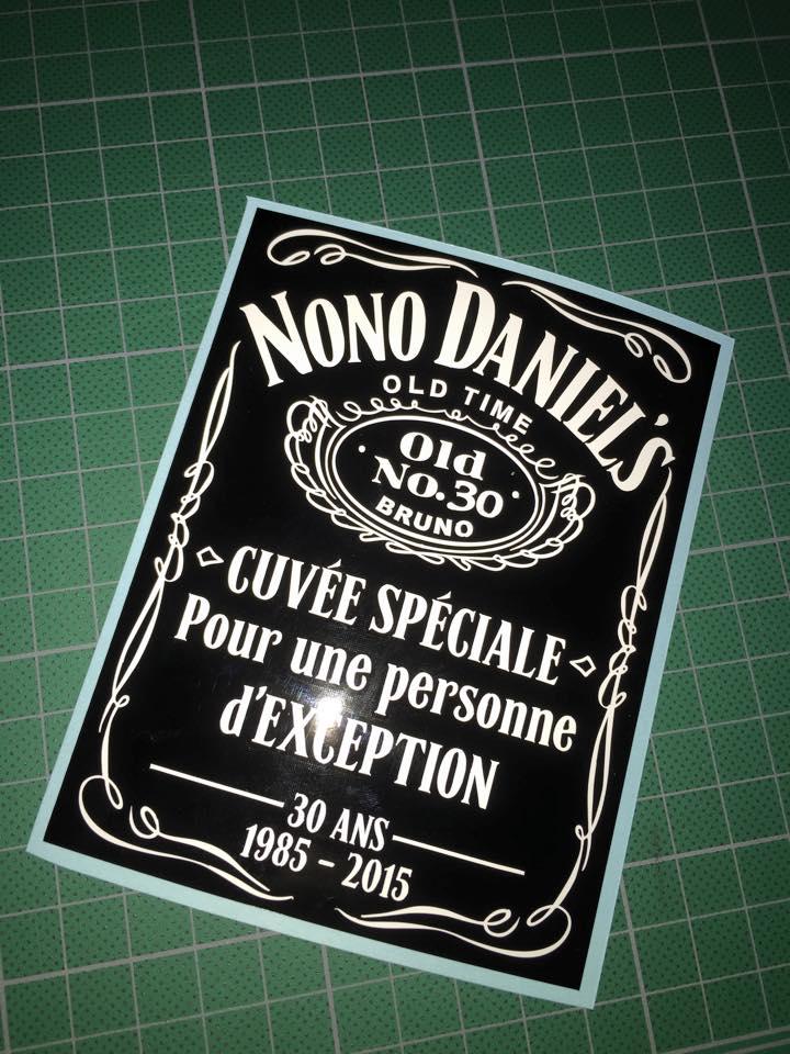 Personnalisation Détiquette Pour Bouteille De Jack Daniels